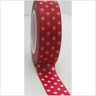Freckled Fawn Washi Tape Dots Red