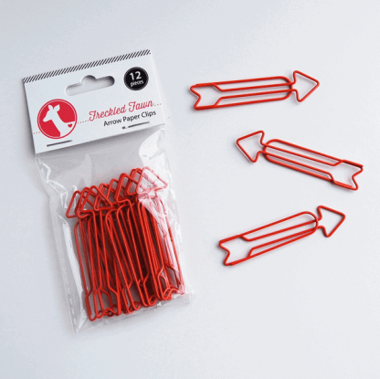Freckled Fawn Red Arrow Paper Clips