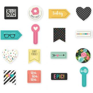 Simple Stories Carpe Diem Decorative Plastic Clips