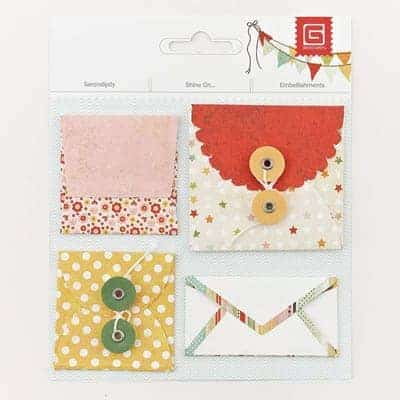 Basic Grey Serendipity & Shine On Mini Envelopes