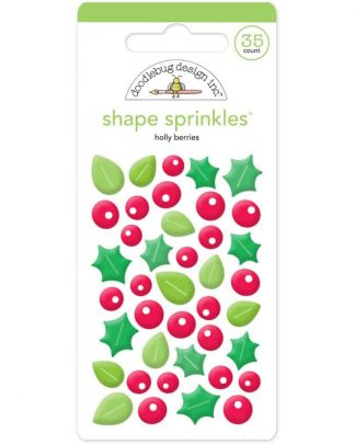 Doodlebug Design Sprinkles Holly Berry