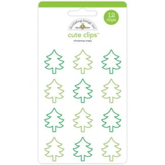 Doodlebug Design Cute Clips Here Comes Santa Claus Christmas Trees