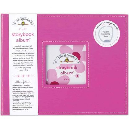 Doodlebug Design Storybook Album 8x8 Bubblegum