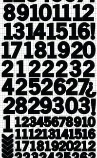 Kaisercraft Number Sticker Sheets Black