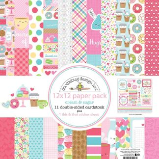 Doodlebug Design Paper Pack 12x12 Cream & Sugar