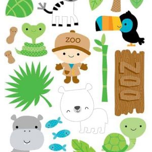 Doodlebug Design 6x12 Icon Stickers At the Zoo 2