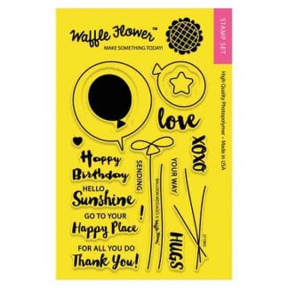 Waffle Flower Crafts Balloon Messages Stamp Set