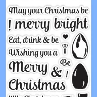 Sunny Studio Clear Stamp Merry Sentiments