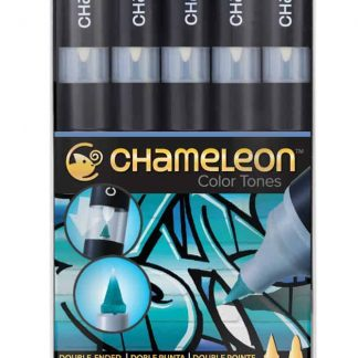 Chameleon Color Tones 5 Pen Set Blue Tone