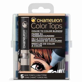 Chameleon Color Tops 5 Pen Set Skin Tones