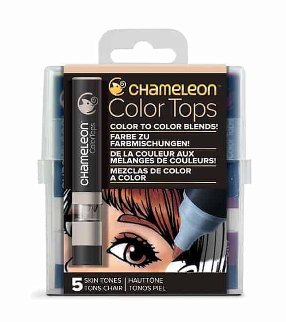 Chameleon Color Tops 5 Pen Set Skin Tones