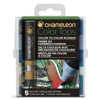 Chameleon Color Tops 5 Pen Set Nature Tones