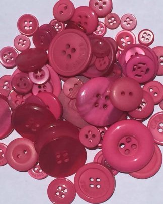 Mixed Resin Buttons Pink