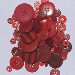Mixed Resin Buttons Red