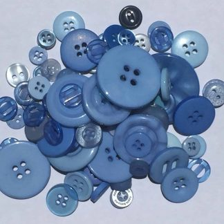 Mixed Resin Buttons Mixed Blue