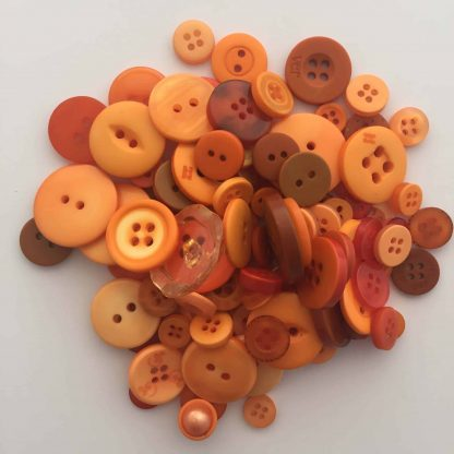 Mixed Resin Buttons Orange