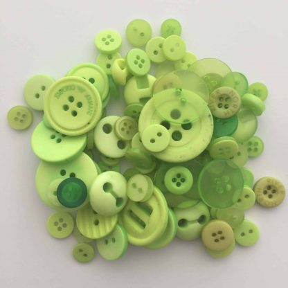 Mixed Resin Buttons Light Green