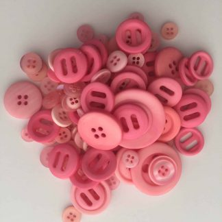 Mixed Resin Buttons Light Pink