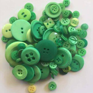 Mixed Resin Buttons Green
