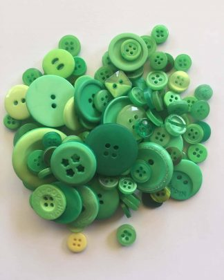 Mixed Resin Buttons Green