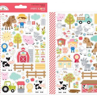 Doodlebug Design 6x12 Mini Icon Stickers Down on the Farm