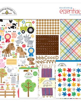 Doodlebug Design 12x12 Essentials Kit Down on the Farm