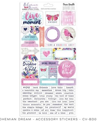 Cocoa Vanilla Studio Accessory Stickers Bohemian Dream