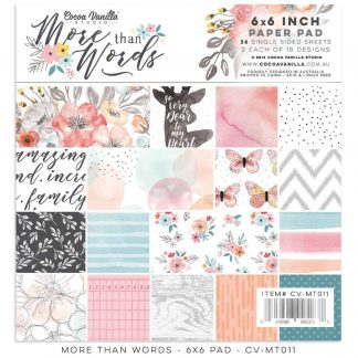 Cocoa Vanilla Studio 6x6 Paper Pad More Than Words