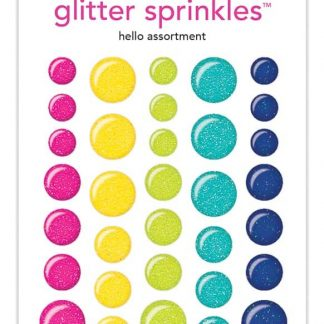 Doodlebug Design Glitter Sprinkles Assortment Hello