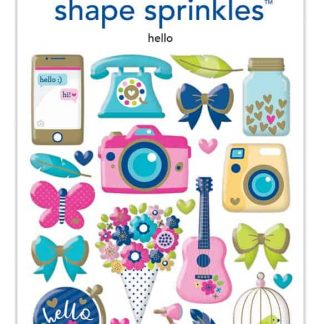 Doodlebug Design Shape Sprinkles Hello