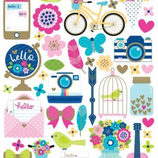 Doodlebug Design Icon Stickers Hello