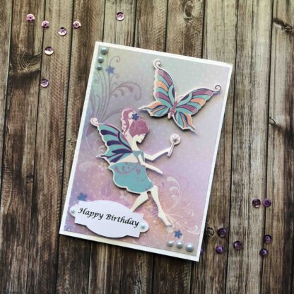 Handmade Birthday Girl Card Fairy