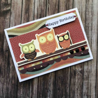 Handmade Birthday Boy Card Owls