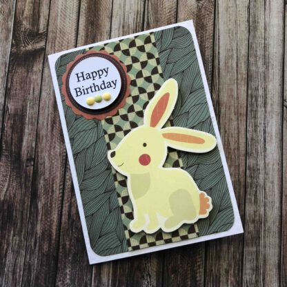 Handmade Birthday Boy Card Rabbit