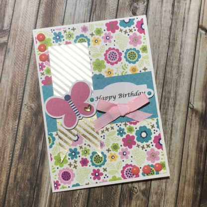 Handmade Birthday Girl Card Butterfly