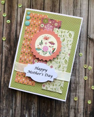 Handmade Mothers Day Card Flowers