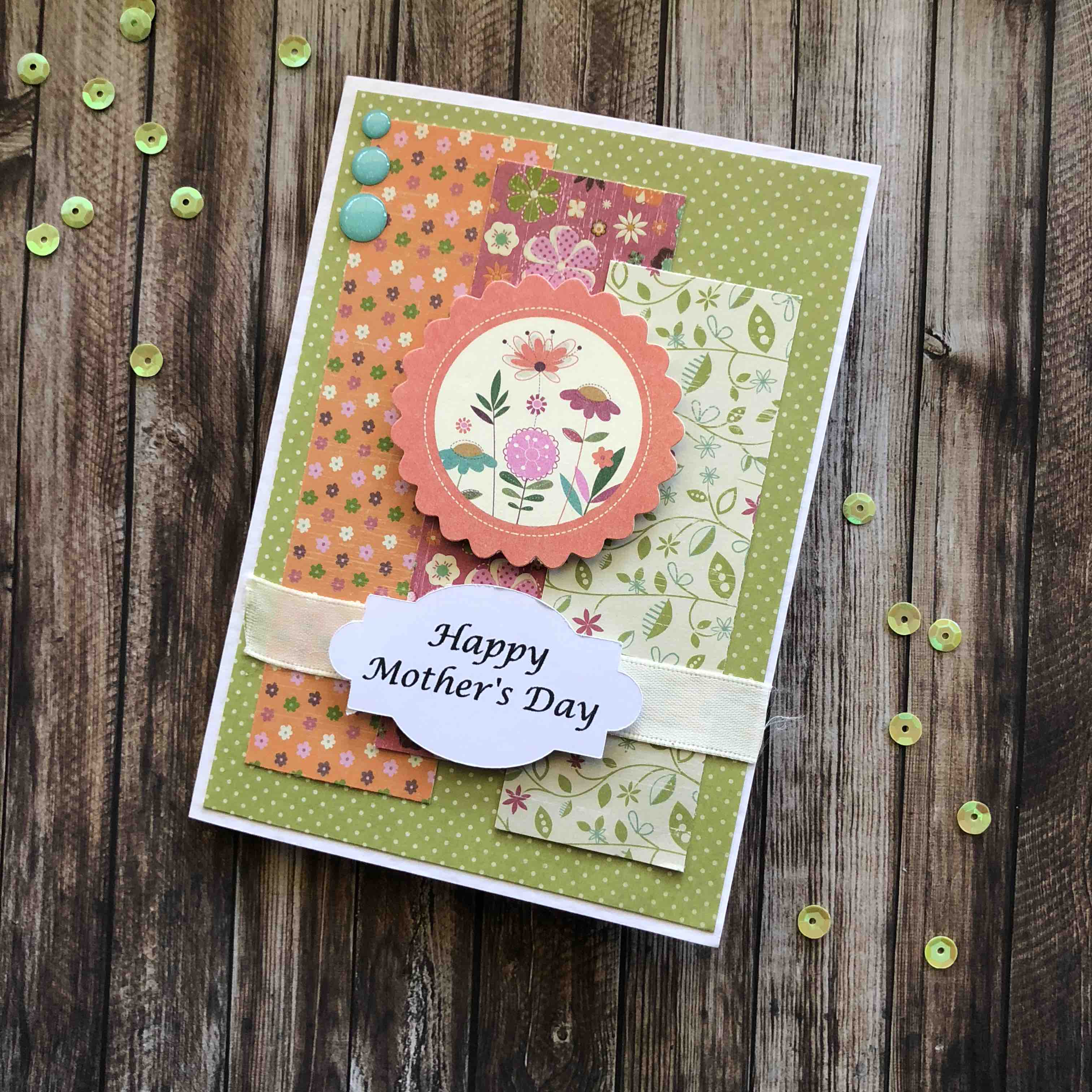 mothers day card crafted - HD3024×3024
