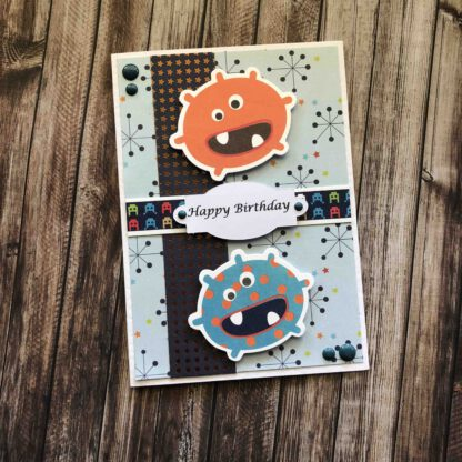 Handmade Birthday Boy Card Monsters