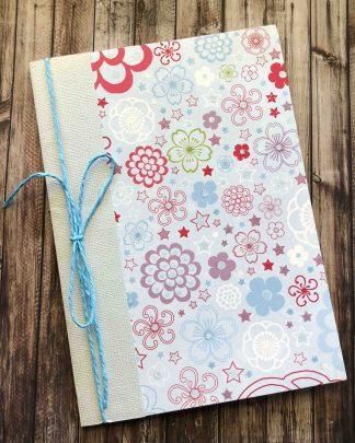 A5 Notebook Blue Flowers