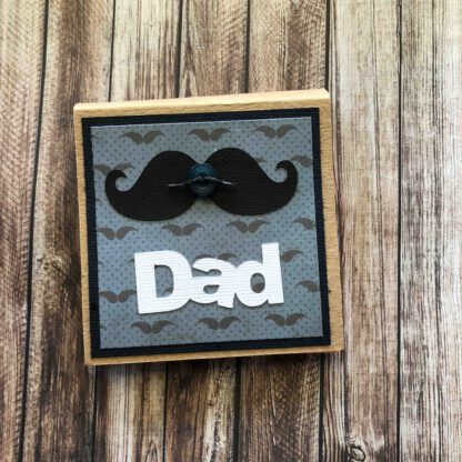 Handmade Sticky Note Pad Moustache Dad