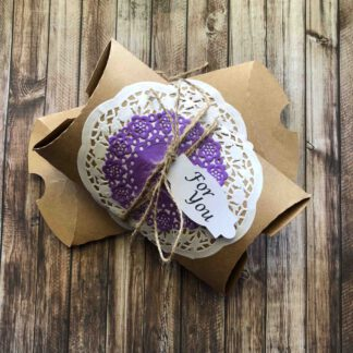 Handmade Pillow Box For You Purple