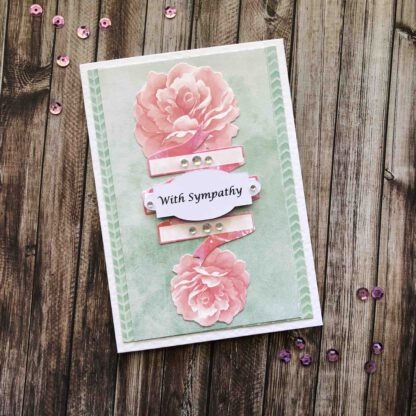 Handmade With Sympathy Card Roses
