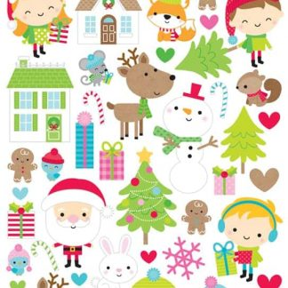Doodlebug Design 6x12 Icon Stickers Christmas Town