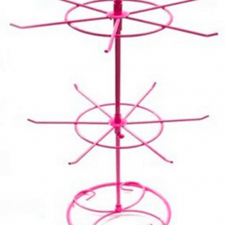 Double Tier Metal Embellishment Stand Pink