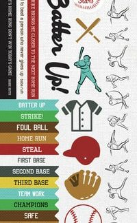 Kaisercraft Game On Sticker Sheet Baseball