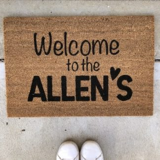 Custom Made Door Mat Family Modern