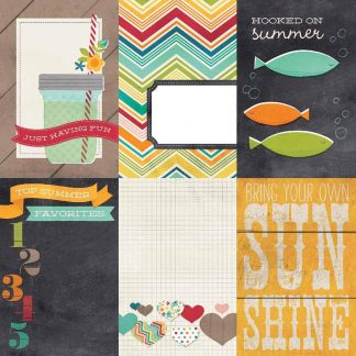 Simple Stories 12x12 I Heart Summer Journal Cards