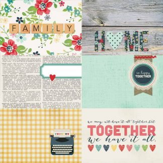 Simple Stories 12x12 Homespun Horizontal Journal Cards