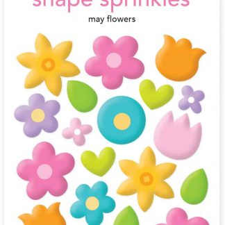Doodlebug Design Shape Sprinkles May Flowers