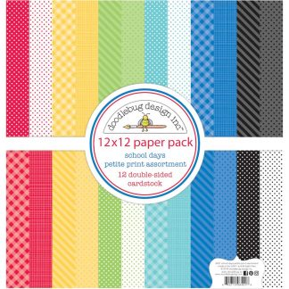 Doodlebug Design 12×12 Petite Paper Pack School Days